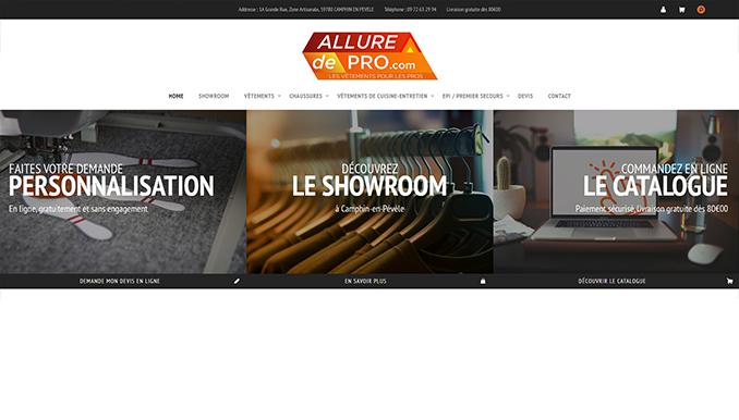 Site web Allure de Pro
