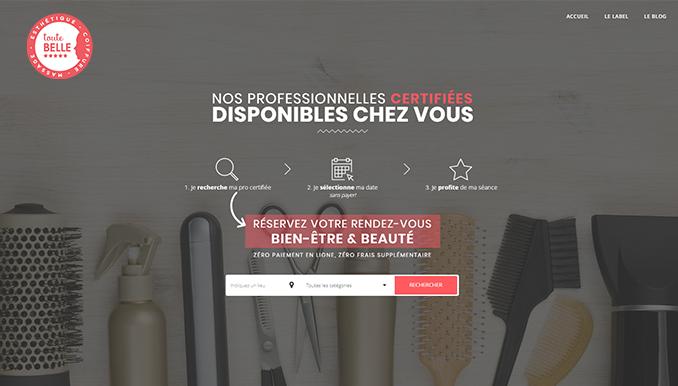 Site web Toute Belle