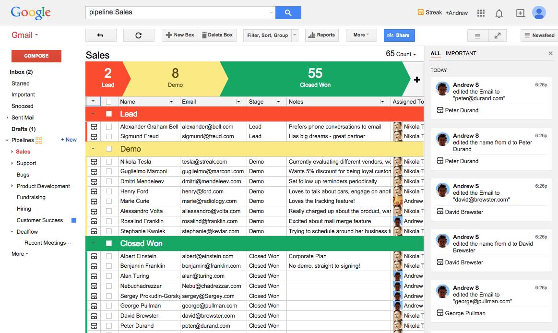 Streak pour Gmail, un outil pour optimiser sa prospection